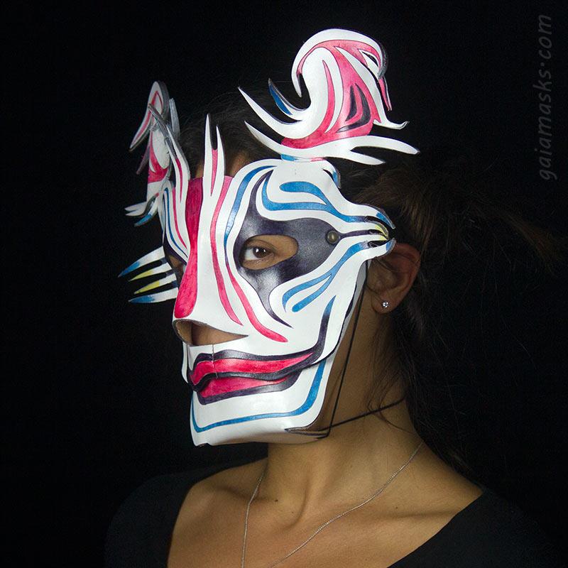 Maschera clown con grafica