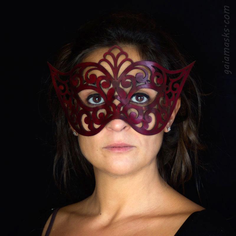 Venezia maschera in cuoio